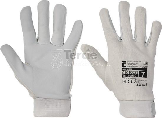 PELICAN pracovní rukavice kombinované z jemné lícové kozinky a s ... 90d3a444f7