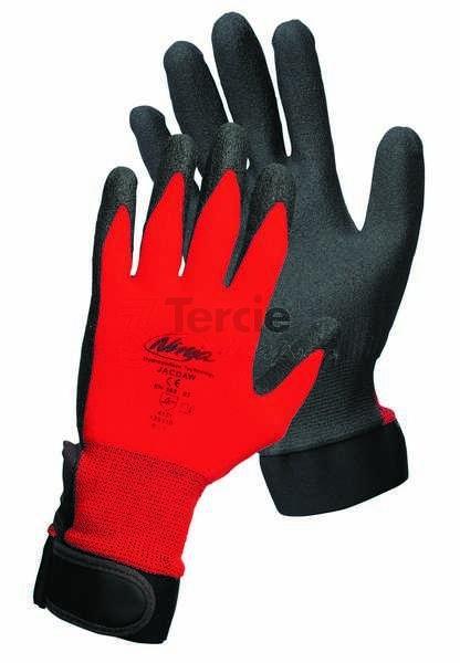JACDAW pracovní rukavice z nylonového úpletu s povrstvením PVC ve dlani 5ad66f27fd
