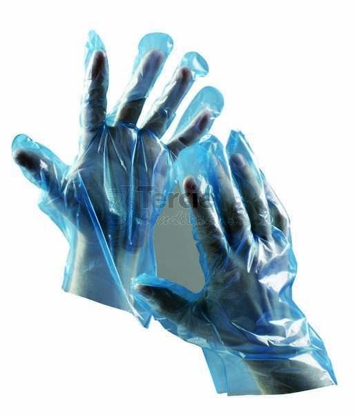DUCK BLUE jednorázové pracovní rukavice z polyetylénové folie ... 1a056336ab