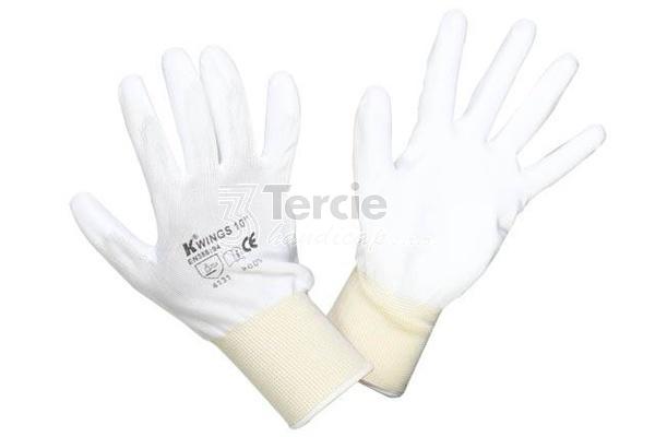 WINGS pracovní rukavice z bezešveho nylonového úpletu a pružnou ... 19b15d9504